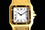 Cartier santos GM Oro car01