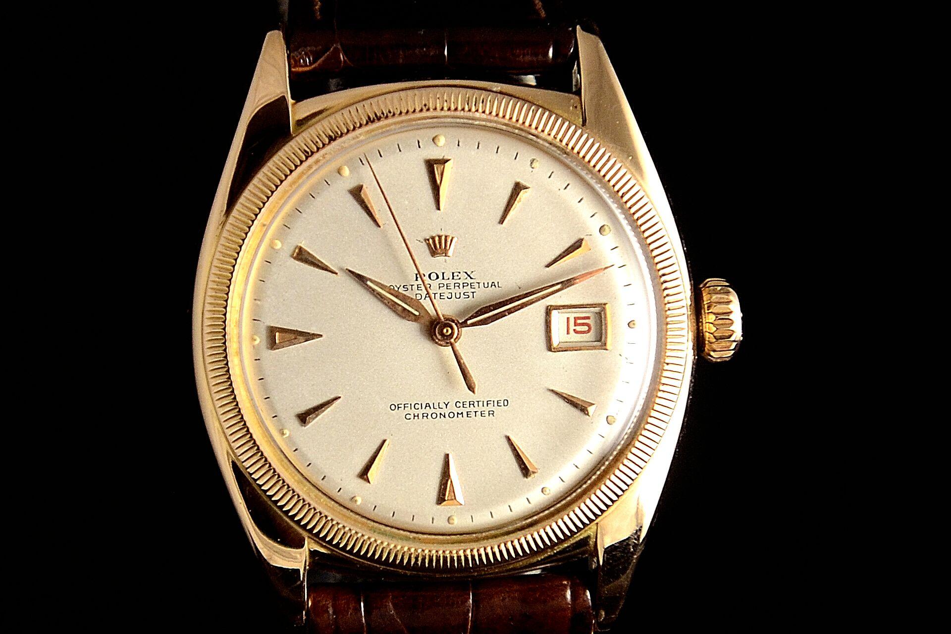 Rolex Date Just Ovettone Vintage Oro 1950 Spedizione